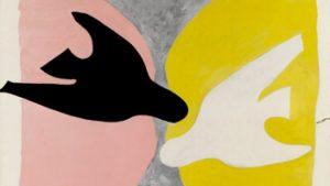 G. Braque, L'oiseau noir et l'oiseau blanc, 1960