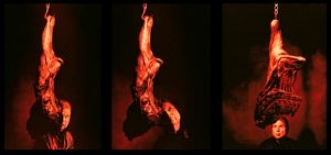 F. Bacon, Meat triptych, photographie, 1991, Louisiana Museum of Modern ArtFrancis Giacobetti)