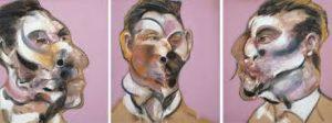 F. Bacon, trois études pour G. Dyer, 1969, The Estate of F. Bacon, Louisiana Museum of Modern Art
